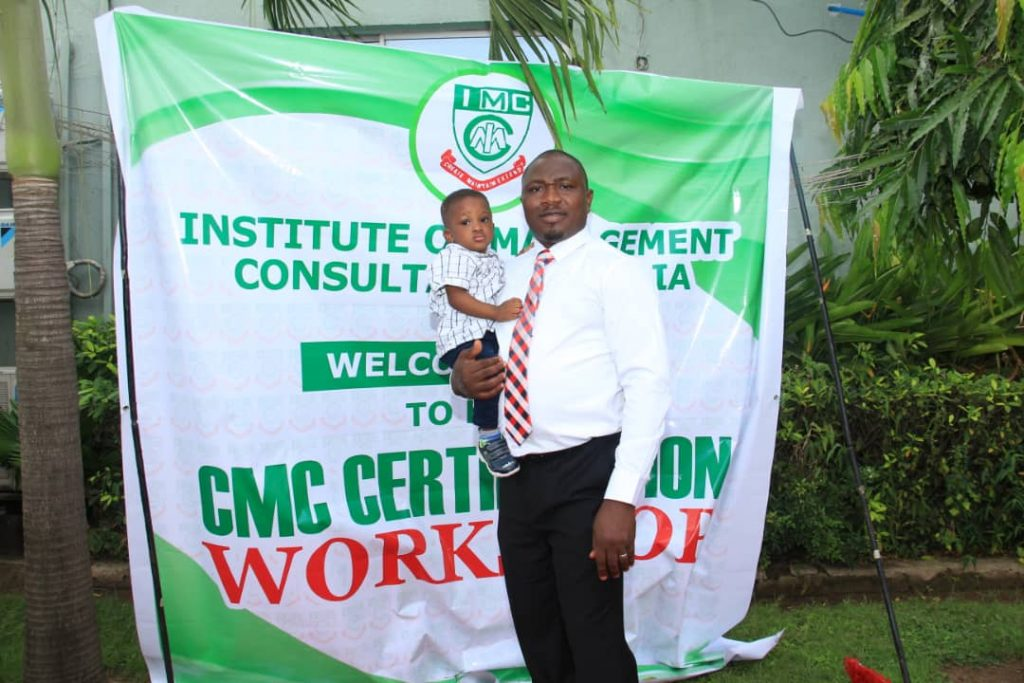 Induction as Fellow, Institute of Management Consultancy, Nigeria and Award of Distinction in Time Management of London Graduate School fddfdfd